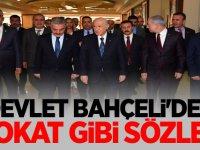 MHP Lideri Devlet Bahçeli'den tokat gibi sözler!