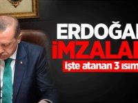 Cumhurbaşkanı Erdoğan'dan kritik atamalar!