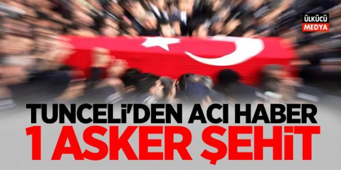 Tunceli'den Acı Haber: 1 Asker Şehit Oldu