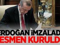 Erdoğan imzaladı! Resmen kuruldu