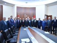 MHP Lideri Bahçeli, 16 il başkanıyla bir araya geldi