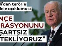 Bahçeli: MHP, Pençe Operasyonu'nu Ön Şartsız Desteklemektedir