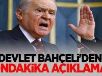 MHP Lideri Devlet Bahçeli'den Sondakika Açıklaması