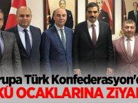 Avrupa Türk Konfederasyon'dan Ülkü Ocaklarına ziyaret!