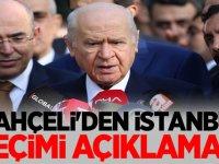 MHP Lideri Devlet Bahçeli'den İstanbul Seçimi açıklaması