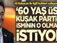 Ali Babacan ile ilgili kulisleri sallayan gelişme! '60 yaş üstü kuşak partinin isminin o olmasını istiyor'