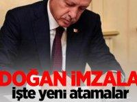 Erdoğan imzaladı! İşte Yeni atamalar.
