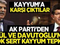 Ak Parti'den Gül ve Davutoğlu'na kayyum tepkisi