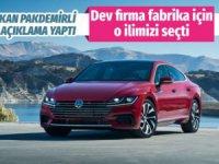 Volkswagen yatırım için Manisa'yı seçti