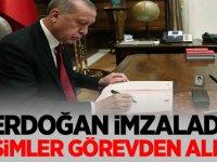 Erdoğan'dan atama ve görevden almalar