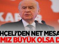 MHP lideri Devlet Bahçeli'den net mesaj!  Acımız büyük olsa da...