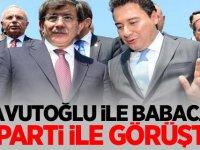 Gündemi sarsacak iddia: Davutoğlu ve Babacan O Parti ile görüştü!