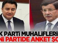Ak Parti Muhalifleri Davutoğlu ve Babacan'a Anket şoku!