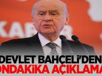 MHP lideri Bahçeli'den Sondakika Açıklaması