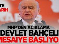 MHP'den Açıklama: Devlet Bahçeli Mesaiye Başlıyor