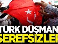 İsviçre'de Türk Düşmanı şerefsizler bayrağımızı yaktı!