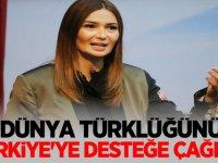 Azerbaycan Milletvekili Ganire Paşeyeva Dünya Türklüğü'nü Türkiye'ye desteğe çağırdı