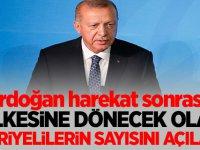 Erdoğan, harekat sonrası ülkesine dönecek olan suriyelilerin sayısını açıkladı