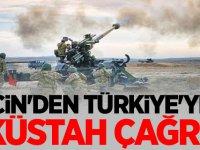 Çin'den Türkiye'ye kütah çağrı!