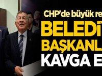 CHP'de büyük rezalet! Belediye başkanları kavga etti