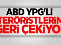 ABD YPG'li Teröristlerini Geri çekiyor