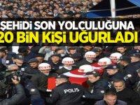 Şehit er Sezai Eşkioğlu'nu 20 bin kişi son yolculuğuna uğurladı