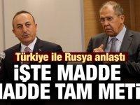 Son dakika: Türkiye ile Rusya arasındaki mutabakatın tam metni