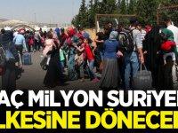 Kaç milyon Suriyeli ülkesine dönecek? İşte detaylar...