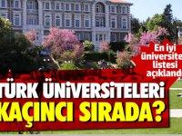 En iyi üniversiteler listesi açıklandı