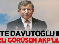İşte Davutoğlu ile gizli görüşen AKP'liler!