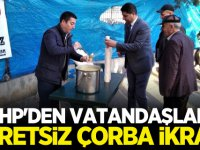 MHP'den vatandaşlara ücretsiz çorba ikramı
