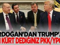 Erdoğan: Sizin Kürt dediğiniz PKK/YPG'dir