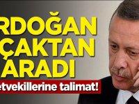 Erdoğan uçaktan aradı! Milletvekillerine talimat