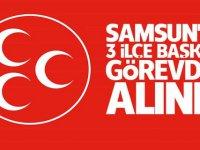 MHP Samsun'da 3 ilçe başkanı görevden alındı