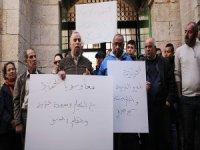 İsrail'in Kudüs'teki Filistin kurumlarına yönelik uygulamaları protesto edildi