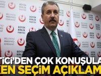 Mustafa Destici'den çok konuşulacak erken seçim açıklaması!