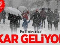 Meteorolojiden 6 ile kar yağışı uyarısı