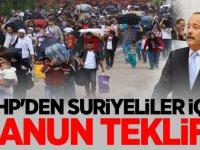 MHP'den Suriyeliler için Kanun Teklifi