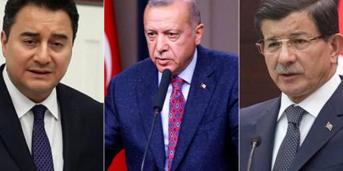 """Erdoğan'dan Davutoğlu ve Babacan'a sert tepki! """"Halk Bankası'nı dolandırmaya kalktılar"""""""