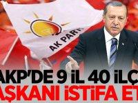 AKP'de 9 il, 40 ilçe başkanı istifa etti!