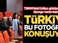 TBMM'deki bütçe görüşmelerine damga vuran kare! Türkiye bu fotoğrafı konuşuyor