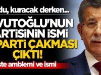 Kurdu, kuracak derken... Davutoğlu'nun partisinin ismi AK Parti çakması çıktı! İşte amblemi ve ismi