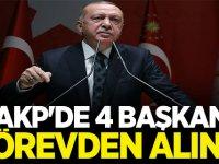 AKP'de 4 Başkan görevden alındı