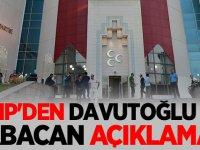 MHP'den Ahmet Davutoğlu ve Ali Babacan açıklaması