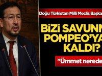 """Doğu Türkistan Milli Meclis Başkanı Tümtürk: """"Bizi savunmak Pompeo'ya mı kaldı?"""""""