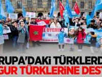 Avrupa'daki Türklerden Uygur Türklerine destek