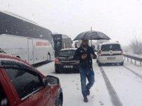 Bursa-Ankara karayolunu trafiğe kapandı