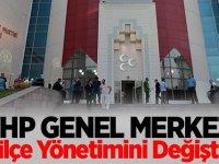 MHP Genel Merkezi İki İlçe Yönetimini Değiştirdi
