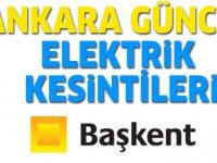 Ankara Elektrik Kesintisi 4 Ocak 2020 Başkent EDAŞ