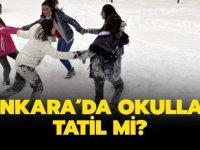 Ankara'da Okullar Yarın Tatil mi? Kar Yağışı Devam Ediyor!